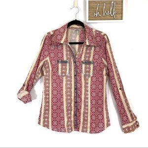 BKE by Buckle button front shirt XL